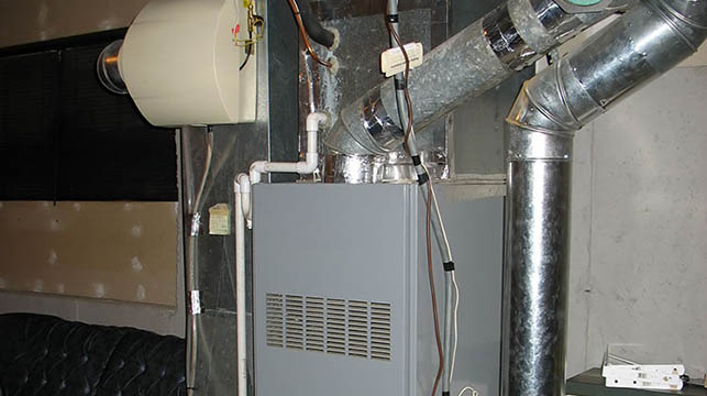 furnace in the basement