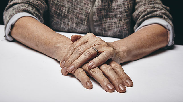 hands of an aging woman