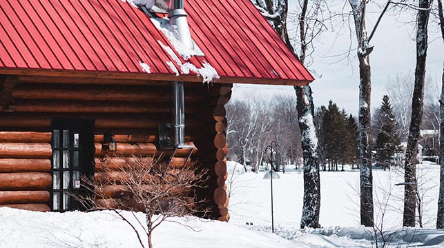 red metal roof house